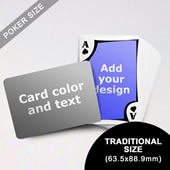 Modern Personalized Both Sides Landscape Back Playing Cards (63.5 x 88.9mm)