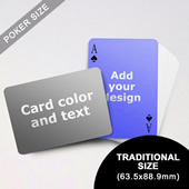 Simple Personalized Both Sided Landscape Back Playing Cards (63.5 X 88.9mm)
