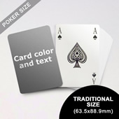 Bridge Style Selection Poker With Custom Message (63.5 x 88.9mm)