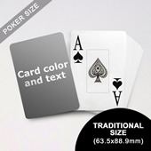 Jumbo Index Cards Poker Size With Custom Message (63.5 x 88.9mm)