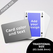 Classic Bridge Style Poker Size Personalized Both Sides Landscape Back Playing Cards (63.5 x 88.9mm)