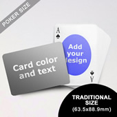 Ovate Personalized Both Sided Landscape Back Playing Cards (63.5 X 88.9mm)