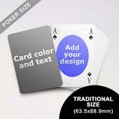 Ovate Bridge Style Poker Size Personalized Both Sided Playing Cards (63.5 x 88.9mm)