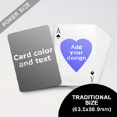 Heart to Heart Series Custom Back Playing Cards (63.5 x 88.9mm)