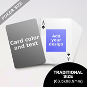 9) Centre Portrait Photo Personalized Both Sides Playing Cards (63.5 x 88.9mm)