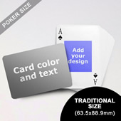 Centre Portrait Photo Personalized Both Sided Landscape Back Playing Cards (63.5 X 88.9mm)