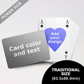 Heart to Heart Series – Custom Back Playing Cards in Bridge Style (Landscape) (63.5 x 88.9mm)