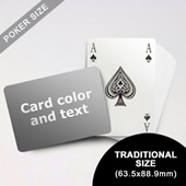 Bridge Style Selection Poker With Custom Message (Landscape) (63.5 x 88.9mm)