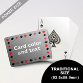 Timeless Frame Poker With Custom Message (Landscape) (63.5 x 88.9mm)