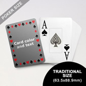 Timeless Frame Poker With Custom Message & Jumbo Index (63.5 x 88.9mm)