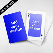 Bridge Size Playing Cards Rectangular Back