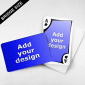Bridge Size Playing Cards – Frame Back, Wide angled Front