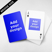 Bridge Size Playing Cards Square Back