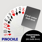 Pinochle wtih Personalized Message - Jumbo Index