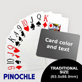 Pinochle With Personalized Message Jumbo Index Landscape (63.5 X 88.9mm)