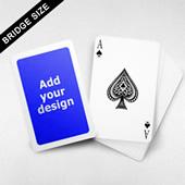 White Border Bridge Size Cards