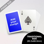 White Border Poker Size Cards (63.5 x 88.9mm)