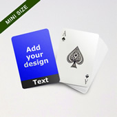 Mini Card Series – Custom Front with Bottom Banner in Black