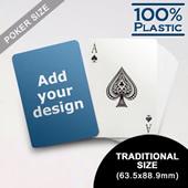 Custom Plastic Poker Cards (63.5 x 88.9mm)