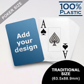 Design Plastic Jumbo Poker Cards (63.5 x 88.9mm)