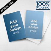Bridge Size Custom Plastic Cards (Blank Cards)