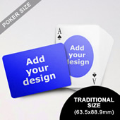 Ovate Custom Front and Landscape Back Playing Cards (63.5 x 88.9mm)