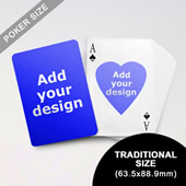 Heart to Heart Series Custom Front and Back Playing Cards (63.5 x 88.9mm)