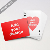 Heart To Heart Series Custom Front And Back Playing Cards (Landscape) (63.5 X 88.9mm)