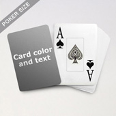 Jumbo Index Cards Poker Size With Custom Message