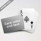 Jumbo Index Cards Poker Size With Custom Message (Landscape)