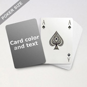 Bridge Style Selection Poker With Custom Message