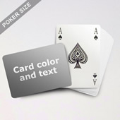 Bridge Style Selection Poker With Custom Message (Landscape)