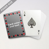 Timeless Frame Poker With Custom Message