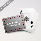 Timeless Frame Poker With Custom Text & Jumbo Index (Landscape)