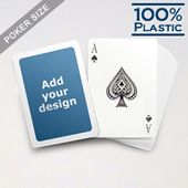 White Border Custom Plastic Poker Cards