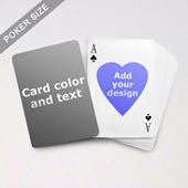 Heart To Heart Series Custom Back Playing Cards