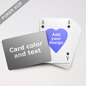 Heart to Heart Series – Custom Back Playing Cards in Bridge Style (Landscape)
