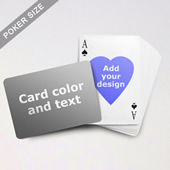 Heart to Heart Series – Custom Back Playing Cards (Landscape)