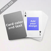 9) Centre Portrait Photo Personalized Both Sided Playing Cards
