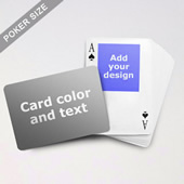Top Portrait Photo Personalized Both Sided Landscape Back Playing Cards