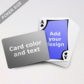 Modern Personalized Both Sides Landscape Back Playing Cards