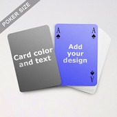 Simple Bridge Style Poker Size Personalized Both Sided Playing Cards