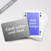 Classic Bridge Style Poker Size Personalized Both Sides Landscape Back Playing Cards