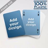 Custom Sided Plastic Poker Simple Bridge Style