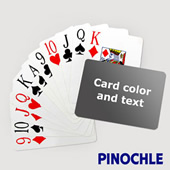 Pinochle With Personalized Message Jumbo Index Landscape