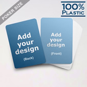 Plastic Poker Size Custom Game Cards (Blank Cards)