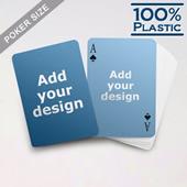 Plastic Poker Size Custom 2 Sides