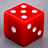 Red Dice 25mm