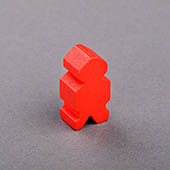 Alien Wooden Pawn Red