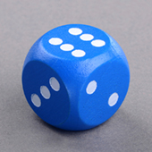 20mm Blue Wooden Dice